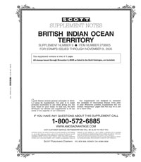 BRITISH INDIAN OCEAN 2005 (6 PAGES) #9