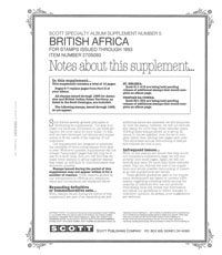 BRITISH AFRICA 1993 (13 PAGES) #5