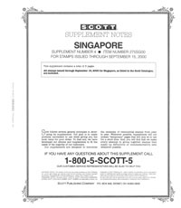 SINGAPORE 2000 (6 PAGES) #4