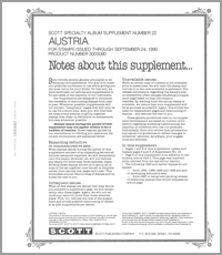 AUSTRIA 1990 #22 (6 PAGES)
