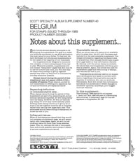 BELGIUM 1989 #40 (7 PAGES)