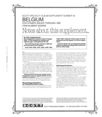 BELGIUM 1992 (9 PAGES) #43
