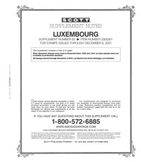 LUXEMBOURG 2001 (3 PAGES) #50
