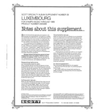 LUXEMBOURG 1989 #39 (3 PAGES)