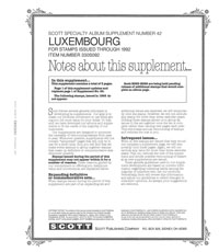 LUXEMBOURG 1992 (6 PAGES) #42