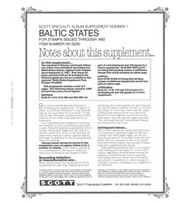 BALTIC STATES 1992 (10 PAGES) #1