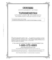 TURKMENISTAN 1998-2001 (6 PAGES) #2