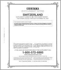 SWITZERLAND 2001 (4 PAGES) #33