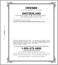 SWITZERLAND 2004 (6 PAGES) #36