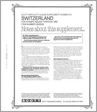 SWITZERLAND 1992 (6 PAGES) #24