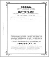 SWITZERLAND 1996 (4 PAGES) #28