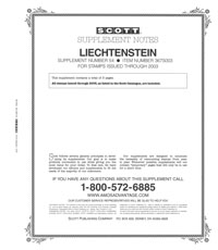 LIECHTENSTEIN 2003 (4 PAGES) #54