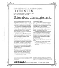 LIECHTENSTEIN 1990 (4 PAGES) #41