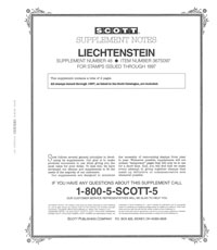LIECHTENSTEIN 1997 (4 PAGES) #48