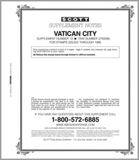 VATICAN 1986 #19 (4 PAGES)