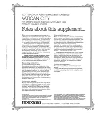 VATICAN 1989 #22 (6 PAGES)