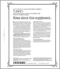 TURKEY 1989 (6 PAGES) #2