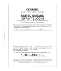 UN IMPRINT BLOCKS 1999 (14 PAGES) #48