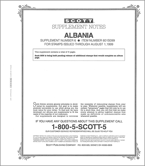 ALBANIA 1999 (4 PAGES) #6