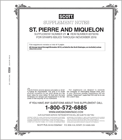 ST. PIERRE & MIQUELON 2016 (10 PAGES) #21