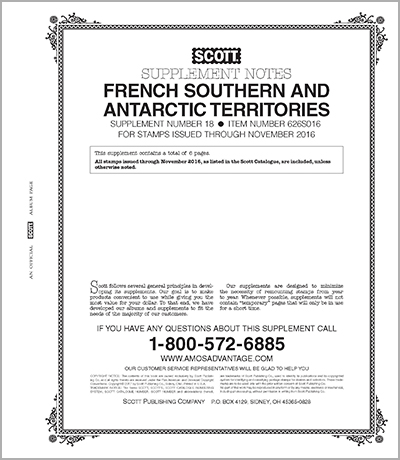 FRENCH SOUTH & ANTARCTIC TERRITORIES 2016 (7 PAGES) #18