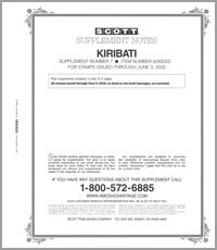 KIRIBATI 2001-2002 (6 PAGES) #7