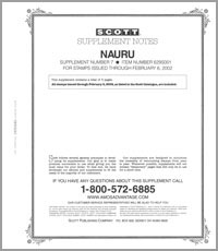 NAURU 2001 (4 PAGES) #7