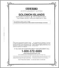 SOLOMON ISLANDS 2000-01 (9 PAGES) #5