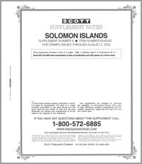 SOLOMON ISLANDS 2002 (6 PAGES) #6