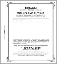 WALLIS & FUTUNA 2003 (5 PAGES) #9