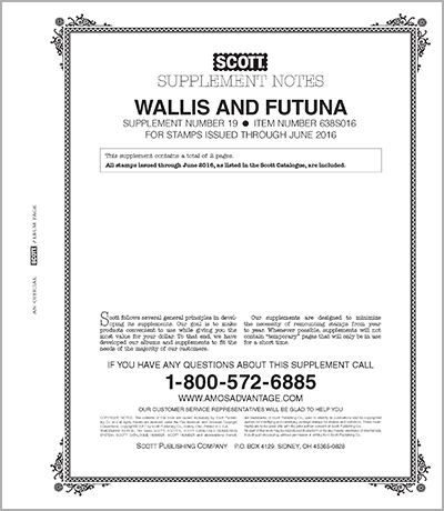 WALLIS & FUTUNA 2016 (3 PAGES) #19
