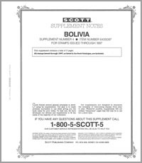BOLIVIA 1997 (4 PAGES) #4