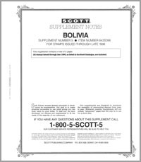 BOLIVIA 1998 (3 PAGES) #5