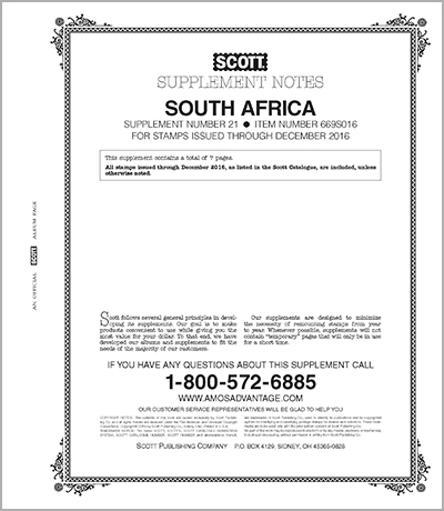 SOUTH AFRICA 2016 (8 PAGES) #21
