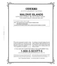 MALDIVE ISLANDS 2000 (4 PAGES) #7