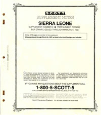 SIERRA LEONE 1996 (33 PAGES) #3