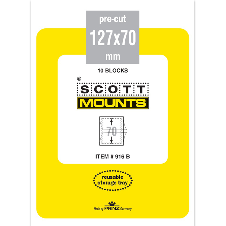 ScottMount 127x70 Stamp Mounts - Black