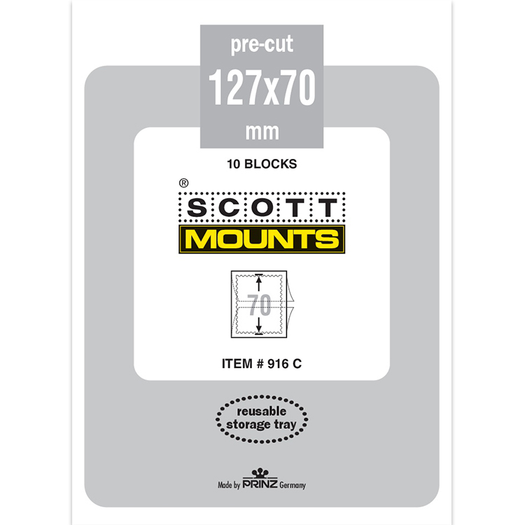 ScottMount 127x70 Stamp Mounts - Clear