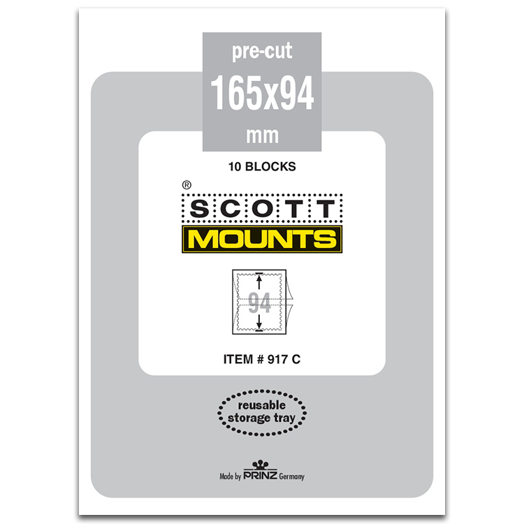 ScottMount 165x94 Stamp Mounts - Clear