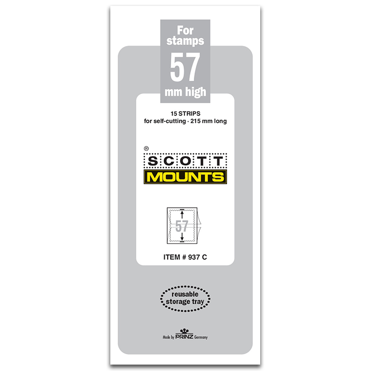 ScottMount 57x215 Stamp Mounts - Clear