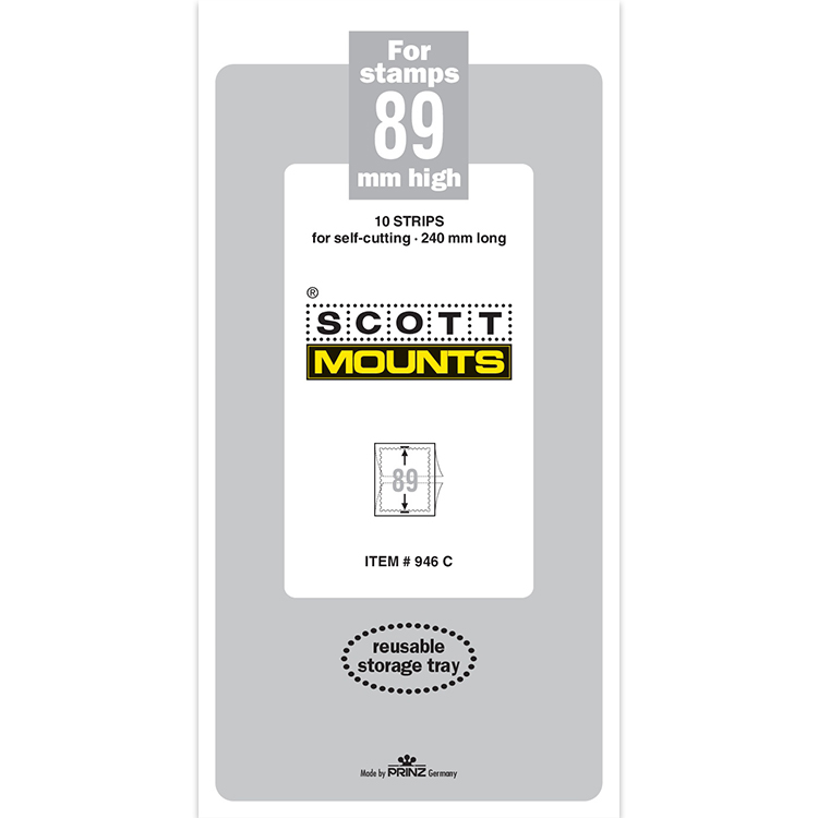 ScottMount 89x240 Stamp Mounts - Clear