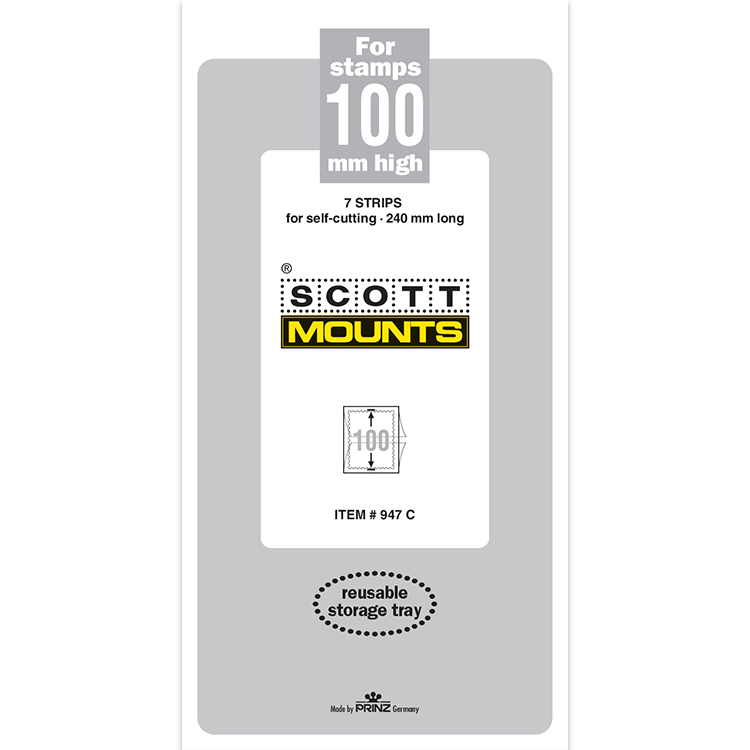 ScottMount 100x240 Stamp Mounts - Clear