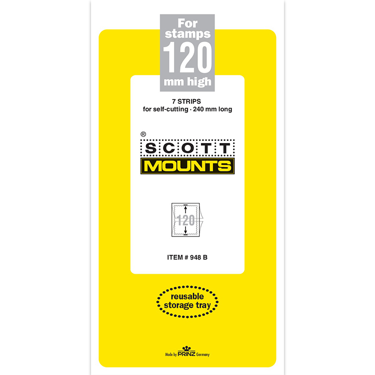 ScottMount 240x120 Stamp Mounts - Black