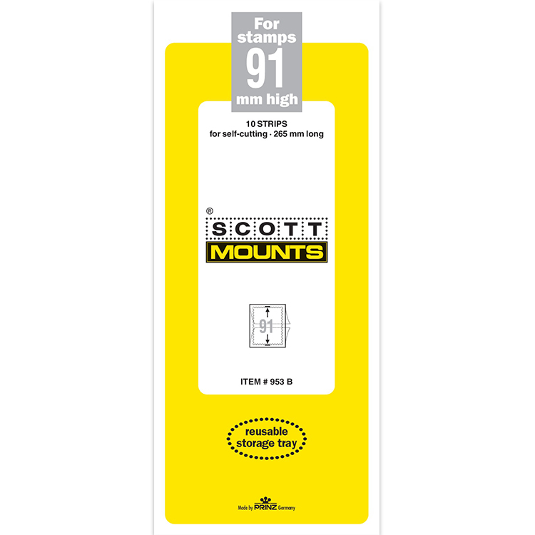 ScottMount 91x265 Stamp Mounts - Black