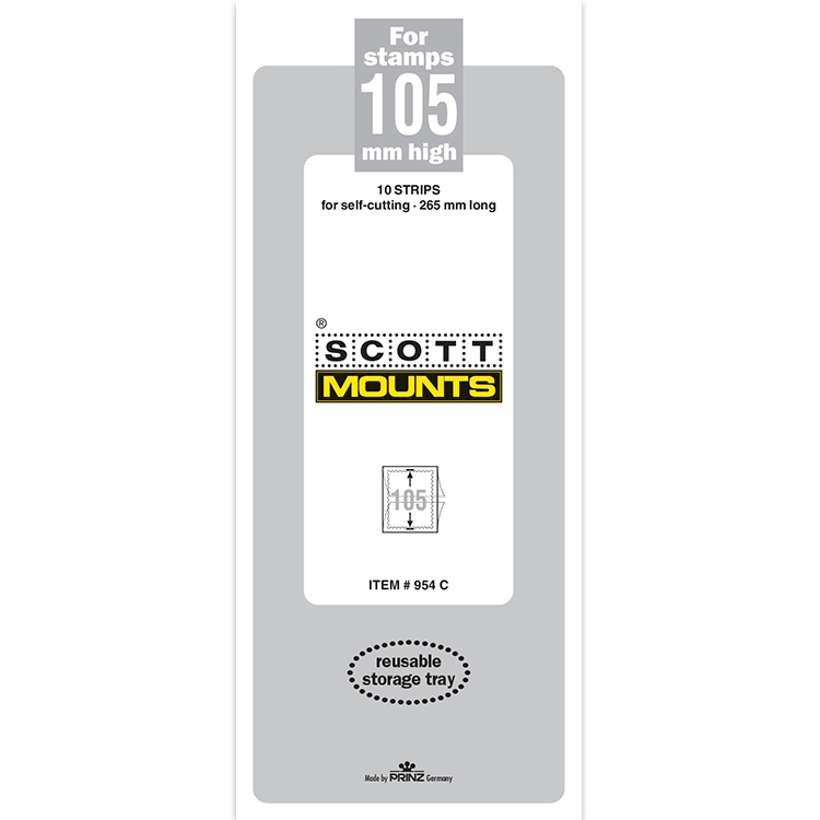ScottMount 105x265 Stamp Mounts - Clear