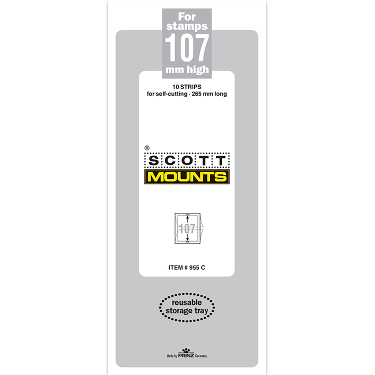 ScottMount 107x265 Stamp Mounts - Clear