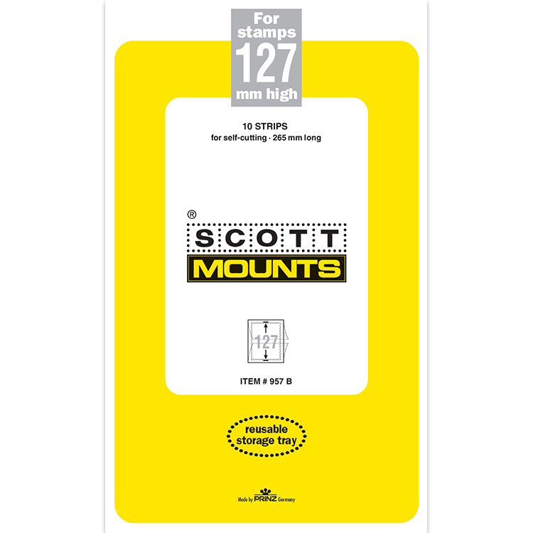ScottMount 127x265 Stamp Mounts - Black