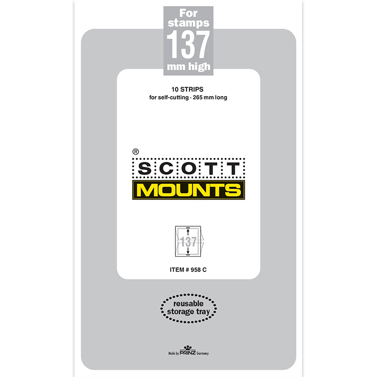 ScottMount 137x265 Stamp Mounts - Clear