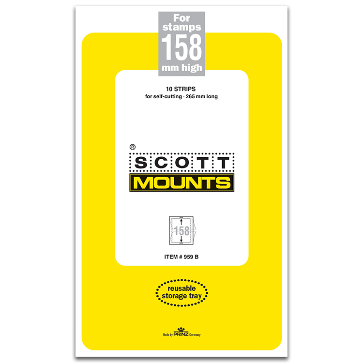 ScottMount 158x265 Stamp Mounts - Black