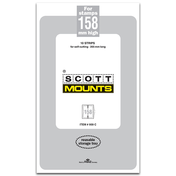 ScottMount 158x265 Stamp Mounts - Clear
